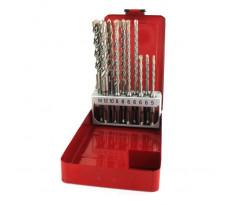 Coffret de 10 forets béton MILWAUKEE 2 taillants SDS-Plus - 4932352340