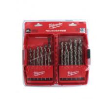 Coffret de 25 forets métaux MILWAUKEE HSS-G Thunderweb - 4932352376