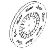 Tringle polyamide 1683 FAPIM pour galiplus 2/3/4 pour machine FP13/FP14 - Noire - vendu au mètre - 1683_88