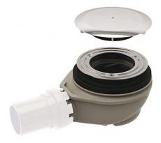 Bonde de receveur de douche GEBERIT Sortie PVC Ø 40 mm - Avec cache bonde - Garde d'eau 50 mm - 150.557.21.1