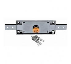 Serrure tiges droite INOX IMPORT pour rideau métallique + 3 clés variées - 826