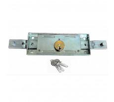 Serrure pour rideau métallique Sortie coudée - Avec 3 clés solides - 827