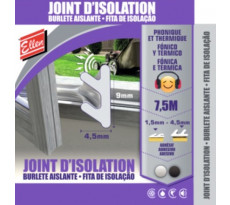 Joint phonique et thermique ELTON - noir - 7.5m - 1000059