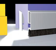 PROFIL BROSSE ADHESIF PDS-B-ZK BLANC HT.40MM EP.8MM BROSSE 10MM LG.3M 0703101