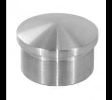EMBOUT BOMBE A COLLER POUR TUBE 42.4MM INOX 304