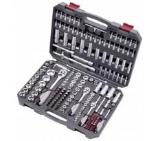 """Coffret d'outils universel douilles et accessoires Basic-Line 1/2"""" 1/4"""" 3/8"""" KRAFTWERK - 200 pièces - 204.104.800"""