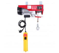 Treuil electrique 100kg 220 mono vit 10m/mm cable d. 3mm lg 12m