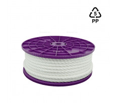 Cordage en polypropylène VISO - blanc - Ø6 mm - vendu au mètre - CBL065
