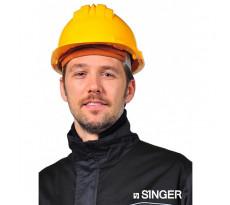 Casque de chantier SINGER en polyéthylène - Jaune - CAS5RSY