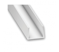 Profilé de finition en U APU2B NICOLL - Pour habillage bandeau blanc - L. 2 m - APU2B