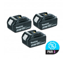 Lot de 3 batteries MAKITA BL1830 - 18V 3.0 Ah