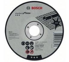 Disque à tronçonner BOSCH à moyeu plat Standard Inox Rapido 125X1.6 MM - Lot de 25 - 2608603172