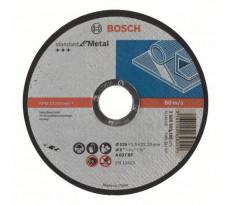 Disque à tronçonner BOSCH à moyeu plat Standard Pour le Métal 125X1.6 MM - Lot de 25 - 2608603165