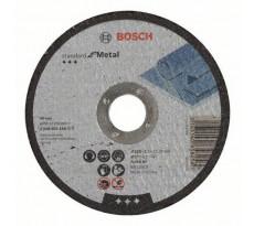 Disque à tronçonner BOSCH à moyeu plat Standard Pour le Métal 125X2.5 MM - Lot de 50 - 2608603166