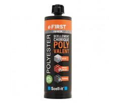 Scellement chimique polyvalent First SCELL-IT - Cartouche de 410 ml - Gris béton - Lot de 12 -FIRST410G