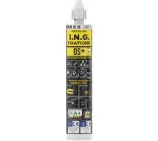 Résine scellement méthacrylate DS+ ING FIXATIONS - Cartouche de 300 ml - Beige - Lot de 6 - A050142