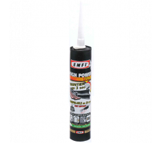 Mastic EMFI Tout support - A prise rapide - High Power Turbo - Cartouche 290 ml - Blanc - Lot de 25 - 75045BE001