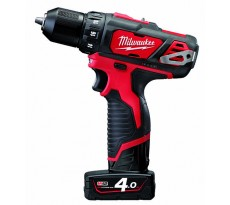Perceuse Visseuse MILWAUKEE 12V 2 Vitesses 4Ah Red Lithium M12 BDD-402C - 4933441925