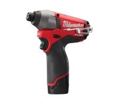 Visseuse à chocs MILWAUKEE M12-CID-202X - 2 Batteries, chargeur, coffret DynaCase - 4933441880
