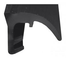 Joint bas pour coulissants KISO - rainure 3mm - 16M - M2586 Noir