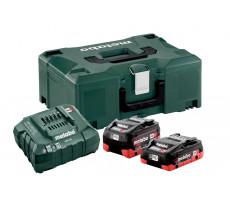 Pack énergie 18V METABO - Pack 2 Batteries 18 volts + chargeur rapide 1 x 4,0 Ah LiHD, 1 x 5,5 Ah LiHD, ASC 55, coffret Metaloc - 685136000