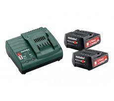 Pack énergie 12V METABO - Pack 2 Batteries 12 Volts + chargeur 2 x 2,0 Ah Li-Power, SC 30 - 685300000