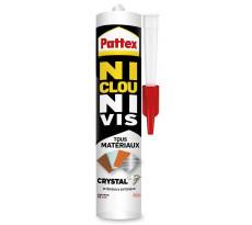 Colle NCNV Crystal tout matériaux PATTEX - cartouche 290g - 2449609