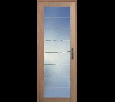Porte de communication simple vantail 1 crx vitrée Quartzo CIE INDUS. BOIS - 106