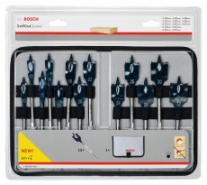 Coffret de mèches plates BOSCH Self Cut Speed - Ø 10 à 32 mm - 2608587010