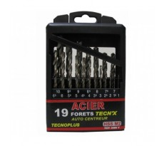 3086VB01 Coffret de 19 forets HSS N°2 TecnX