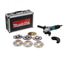 Meuleuse MAKITA Ø125 mm 720W + 7 Disques, coffret - GA5030RSP6