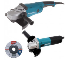 Ensemble de 2 machines MAKITA - Meuleuse Ø 125 mm 840 W + Meuleuse Ø 230 mm 2200 W - En coffret - DK0053G