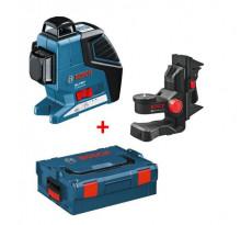 Laser Ligne GLL 3-80 P BOSCH + Support BM1 Plus Coffret L-BOXX - 0601063309