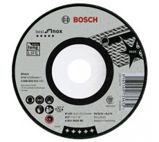 Meule BEST à ébarder BOSCH à moyeu deporté Spécial Inox 125X6.0 MM - 2608603511
