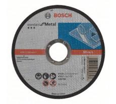 Disque à tronçonner BOSCH à moyeu plat Standard Pour le Métal 115X1.6 MM - Lot de 25 - 2608603163