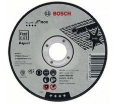 Disque EXPERT à tronçonner BOSCH à moyeu plat Spécial inox 125X1.0 MM - Lot de 25 - 2608600549