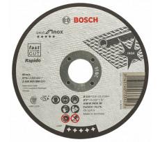 Disque BEST à tronçonner BOSCH à moyeu plat Spécial inox 125X0.8 MM - Lot de 25 - 2608603488