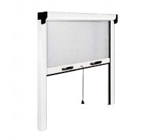 Moustiquaire OPERA verticale - Ressort de rappel et frein de remontée - 120x160 - Blanc - ZV04512016016