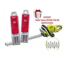 LOT MILWAUKEE : 20 forets SDS Plus 2 taillants + Taille haies électrique 550 W RYOBI - RHT5555R.