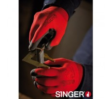 Gants polyamide SINGER - par paire - rouge - NYMR15CFTN