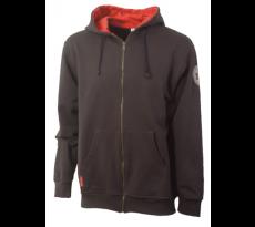 Sweat shirt à capuche zippé ONTARIO ébène/rouge - BOSSEUR - 10132