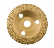 Disque abrasif au carbure de tungstène EDMA - bombé - Ø 125 mm - doré - grain moyen 24 - 928