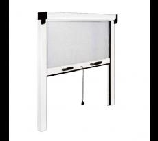 Moustiquaire OPERA verticale - Ressort de rappel et frein de remontée - 100x160 - Blanc - ZV04510016016