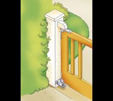 Pivot de portail bois à cheviller TORBEL - série 600 - PIVOT.600