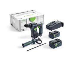 Perforateurs FESTOOL BHC 18 Li 5,2-Plus - 2 batteries 5.2Ah, chargeur, coffret - 574720