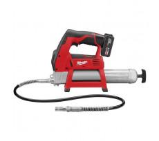 Pompe à graisse MILWAUKEE M12 GG-401B - 12V 4.0Ah + Batterie, chargeur - 4933441675