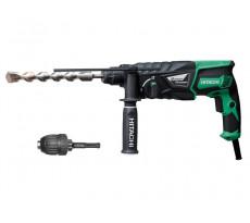 Perforateur HITACHI SDS+ 830W 26mm 3.2J + mandrin - DH26PB (Pas Burineur)