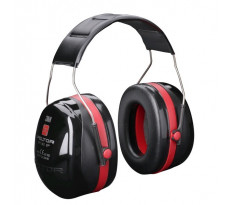Casque anti-bruit 3M Optime III Peltor Noir et rouge - H540010