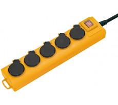 Socle multiprises BRENNESTUHL Pro-Line IP44 - 5 prises 2m  - Câble H07RN-F 3G1,5 - 1159901215