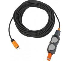 Cordons prolongateurs BRENNENSTUHL avec Powerblock IP 54 10 m noir H07RN-F3G2,5 - 9162101160